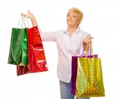 Mature woman with bags