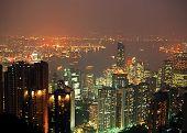 Victoria Harbour, Hong Kong island.
