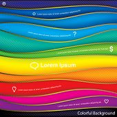 Abstract colorful waves design Background.