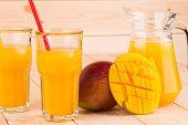 mango and juice