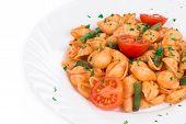 Tasty italian pasta.