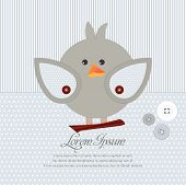 Greeting card with sweet bird