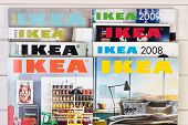 Warsaw, Poland - December 1, 2014: Collection of IKEA Catalogs in Warsaw Poland. Ikea is the world's largest furniture retailer, founded in Sweden