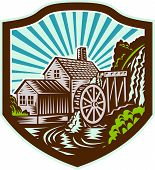 Watermill House Shield Retro