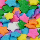 Multi Colored Stars Sprinkles