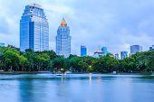 Dusk View Of Bangkok