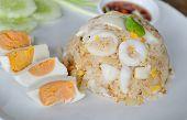 Stir Fried Squid With Salted Egg Yolk
