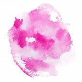 Abstract watercolor aquarelle hand drawn pink red art paint on white background Vector illustration