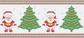 Christmas Embroidery Vector Seamless Texture