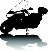 Silhouette of Motorcycle vector black