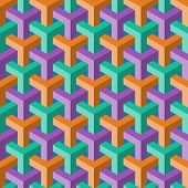 abstract color cube seamless pattern