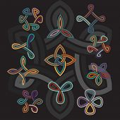 Set of abstract celtic decorative elements