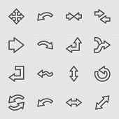 Arrows web icons set