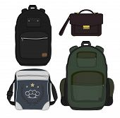 Set Of 4 Fashionable Men Bags. Color