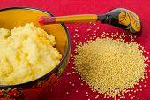 millet porridge in a beautiful bowl