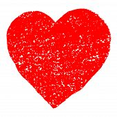 Red Grunge Valentine Heart.