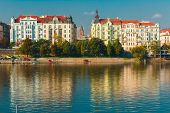 Picturesque View Of The Vltava River And Old Town In Prague, Czech Republic