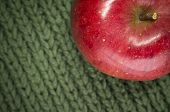 Juicy Red Apple And Green Wool