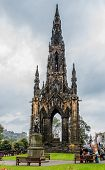 Scott Monument In Edinburgh, Scotland