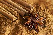 Cinnamon Sticks, Ground Cinnamon And  Star Anise