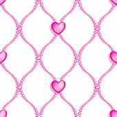 Pink Seamless Glass Beads