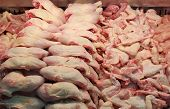 Chicken meat in a butcher shop