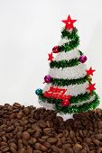 Christmas Tree On The Coffee Beans
