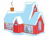Children In House Before Christmas