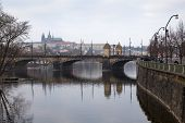 Bridge. Cityscape Of Prague.