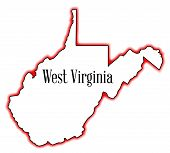 West Virginia Outline Map