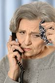 Elderly woman calling