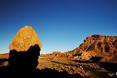 Roques de Garcia in sunrise light, Teide National Park, Tenerife, Canary Islands, Spain