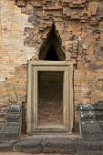 Entrance to Prasat Sikhoraphun temple, Surin, Thailand.