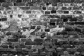 Old gray brick wall texture