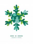Vector holiday christmas trees Christmas snowflake silhouette pattern frame card template