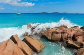 Breaking Big Waves LaDigue Stones
