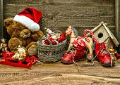Nostalgic Christmas Decorations With Antique Toys