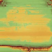 Designed grunge texture or background. With different color patterns: orange; brown; yellow; green