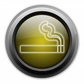 Icon, Button, Pictogram Smoking Area