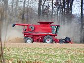 finishing soybean harvest