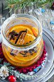 Festive tangerine liqueur