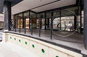 Entrance To Contemporary Building