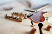 Detail Of Electric Guitar Bridge
