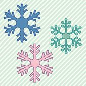 Three Snowflakes
