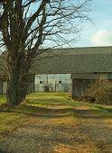 abandon farm with old barn