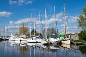picture of pontoon boat  - Sailing Boats on the Canal at Turf Lock - JPG