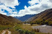 pic of shan  - Way to Kaindy Lake in Tien Shan mountain Kazakhstan - JPG