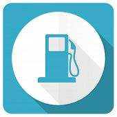 picture of petrol  - petrol blue flat icon gas station sign  - JPG