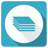 foto of gage  - layers blue flat icon gages sign  - JPG