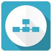pic of cisco  - database blue flat icon   - JPG